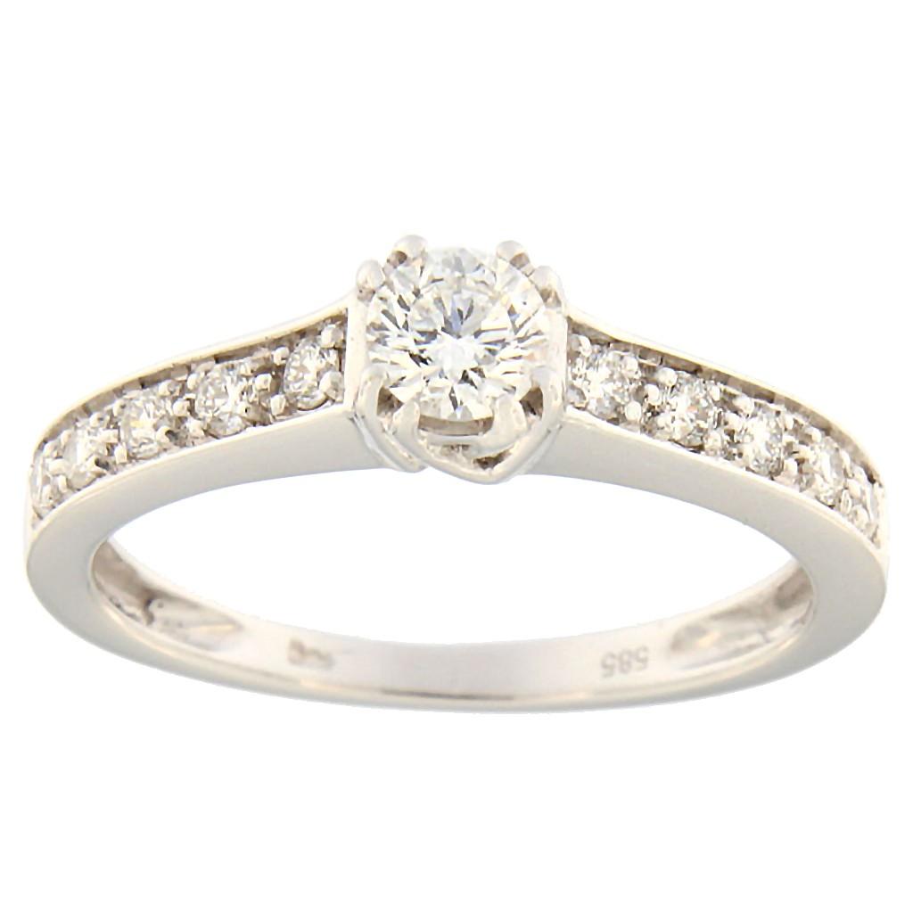 Kullast sõrmus teemantidega 0,35 ct. Kood: 101an