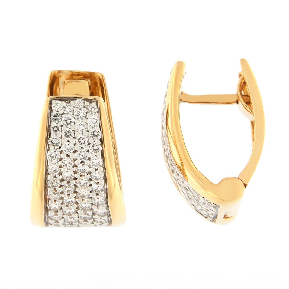 Kullast kõrvarõngad teemantidega 0,56 ct. Kood: 7af