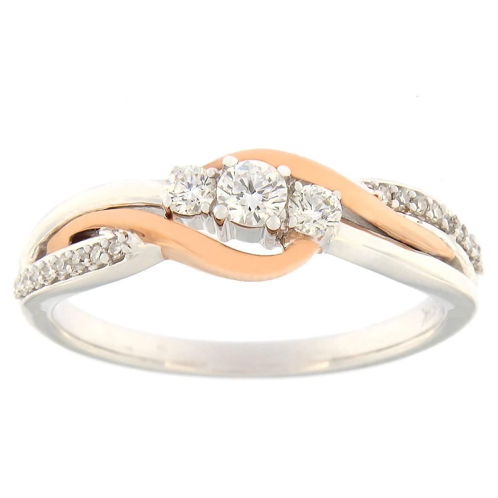 Kullast sõrmus teemantidega 0,25 ct. Kood: 85hb
