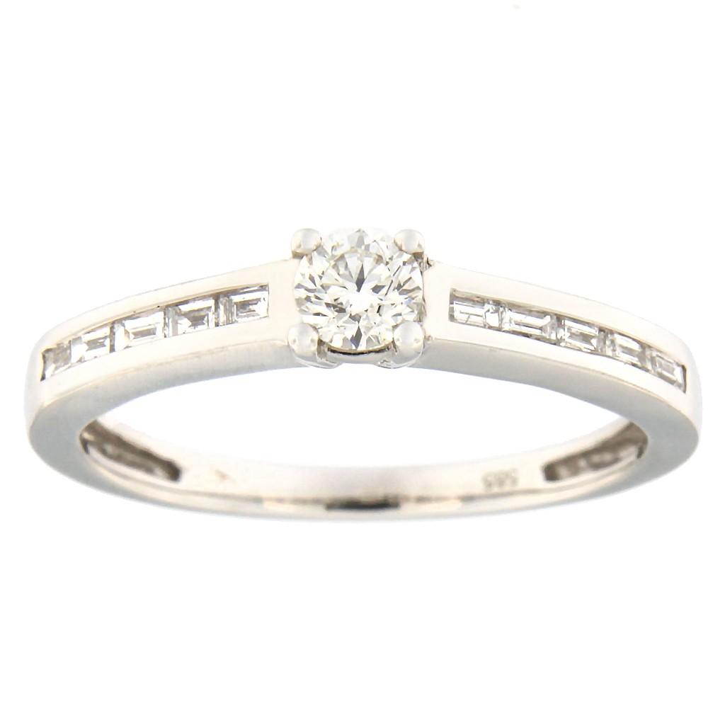 Kullast sõrmus teemantidega 0,44 ct. Kood: 87ab