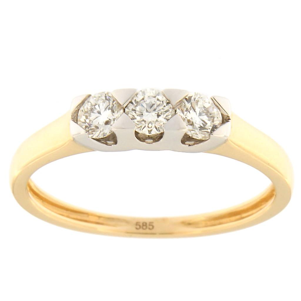 Kullast sõrmus teemantidega 0,32 ct. Kood: 95an