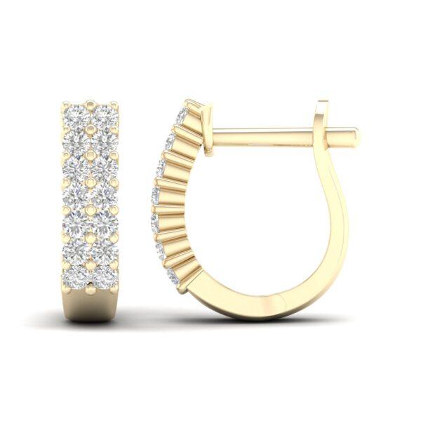 Kullast kõrvarõngad teemantidega 0,50 ct. Kood: 57hb