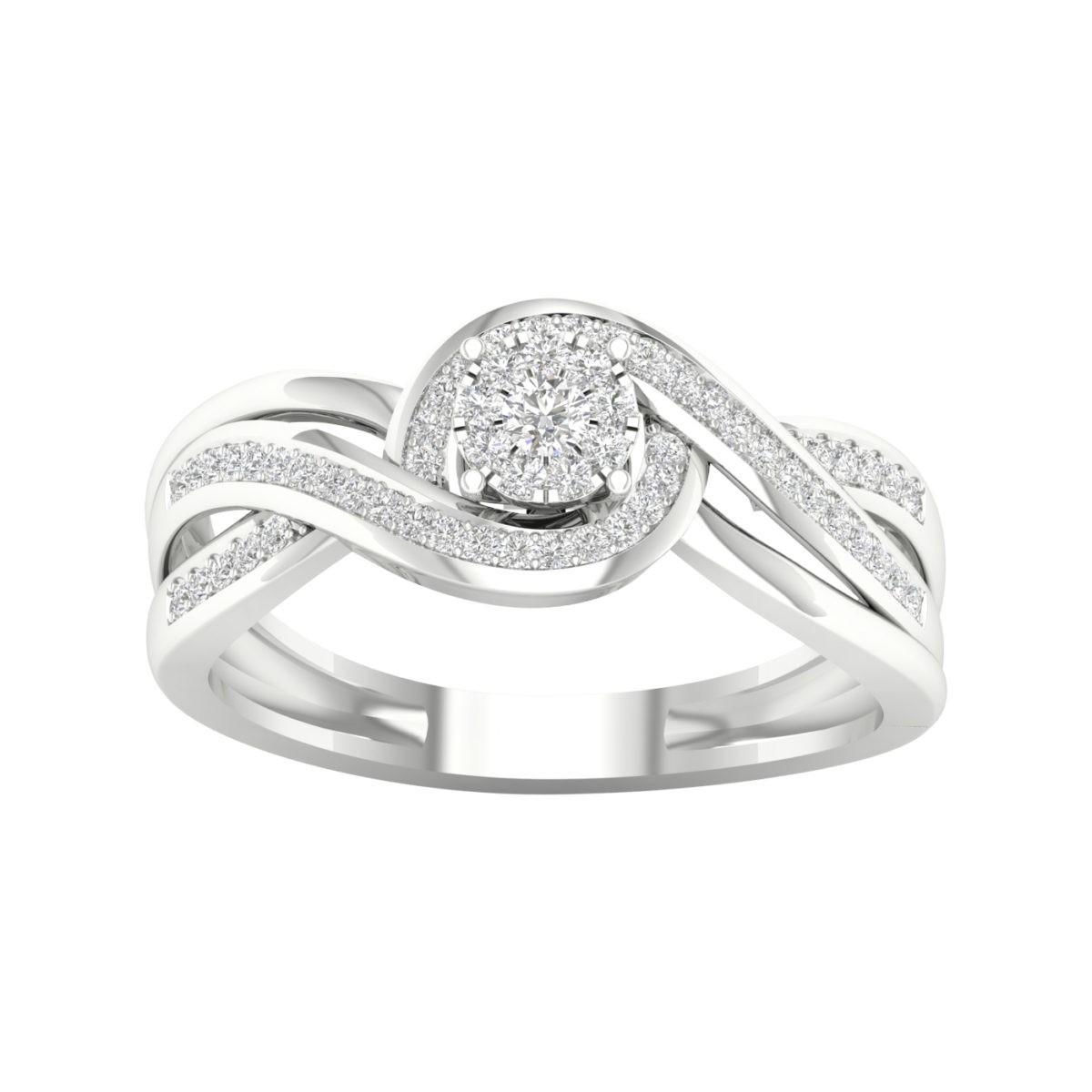 Kullast sõrmus teemantidega 0,25 ct. Kood: 3hb