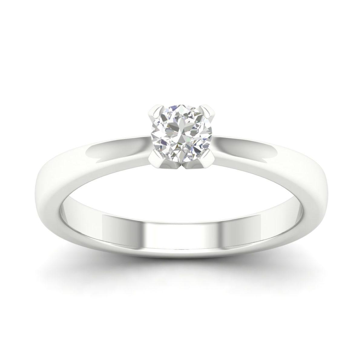 Kullast sõrmus teemantiga 0,20 ct. Kood: 31hb