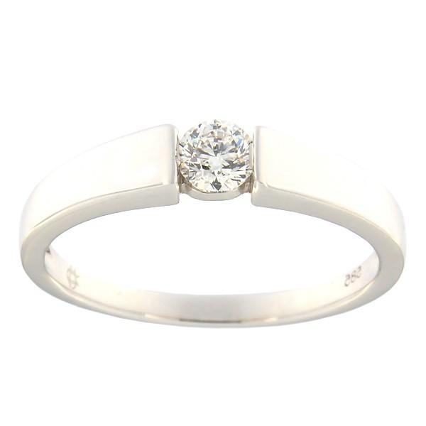 Kullast sõrmus teemantiga 0,24 ct. Kood: 101af