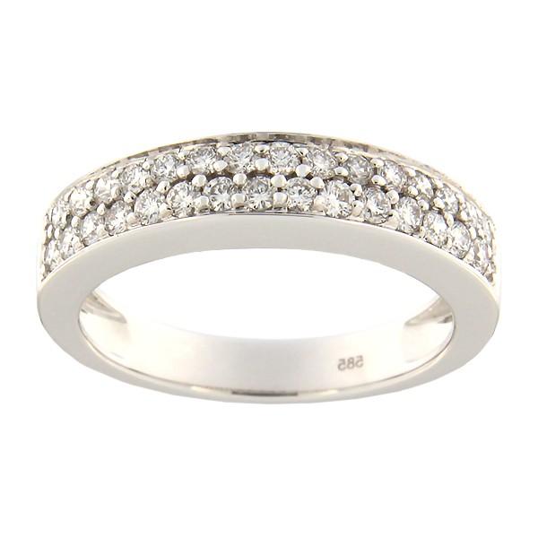 Kullast sõrmus teemantidega 0,48 ct. Kood: 104an