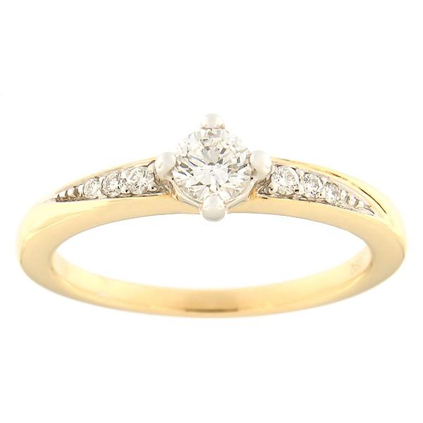 Kullast sõrmus teemantidega 0,29 ct. Kood: 118al