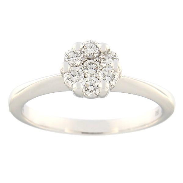 Kullast sõrmus teemantidega 0,34 ct. Kood: 120ak