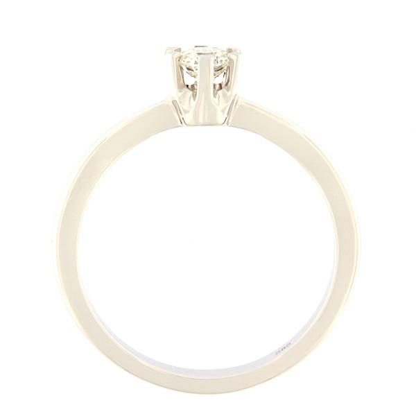 Kullast sõrmus teemantiga 0,30 ct. Kood: 124an külgvaade