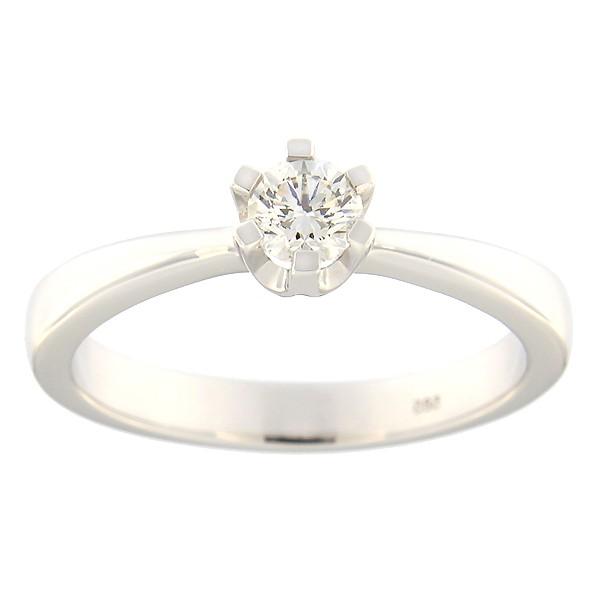 Kullast sõrmus teemantiga 0,30 ct. Kood: 124an