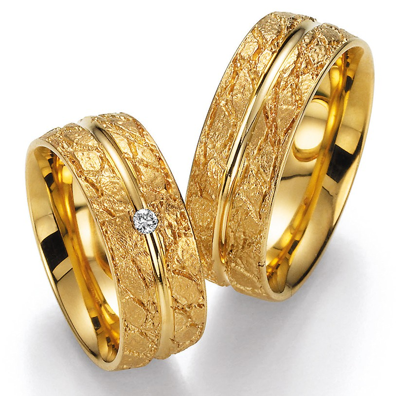 Bayer abielusõrmused - Kollane kuld - MATIGOLD