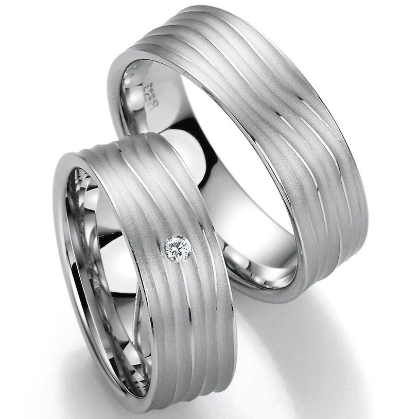 Bayer abielusõrmused - Valge kuld - MATIGOLD