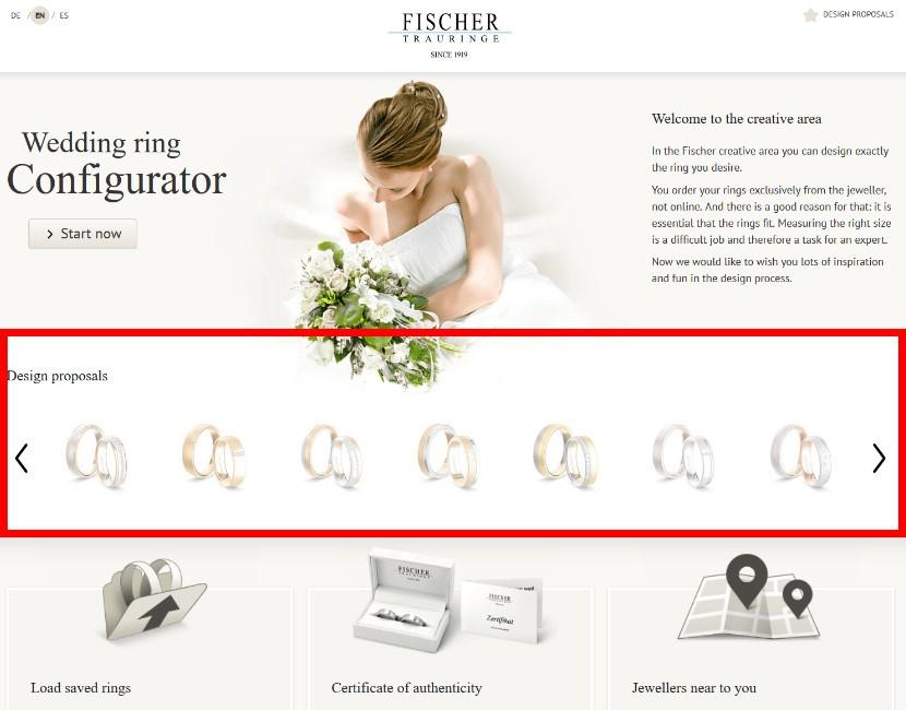 Fischer konfiguraator - abielusõrmuste valik - MATIGOLD - laulatussõrmused - konfiguraator - disaini enda abielusõrmused!