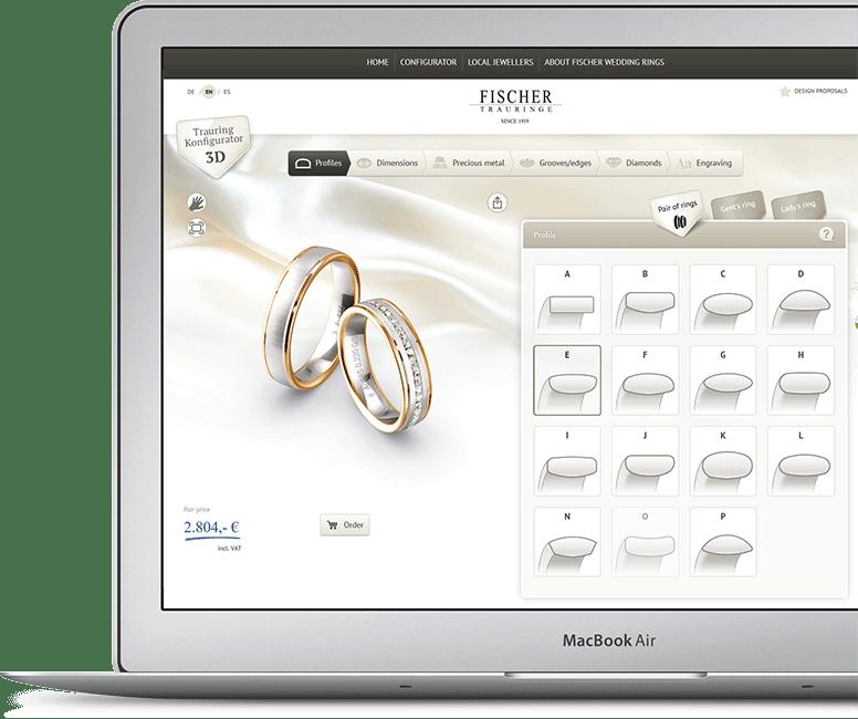 Fischer konfiguraator - MATIGOLD - Mati kullaäri - abielusõrmused - abielusõrmus - laulatussõrmused - laulatussõrmus