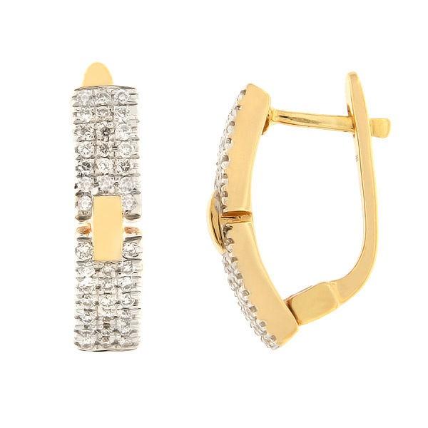 Kullast kõrvarõngad teemantidega 0,30 ct. Kood: 120ag