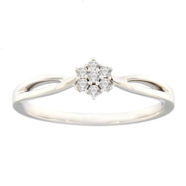 Kullast sõrmus teemantidega 0,075 ct. Kood: 14hb
