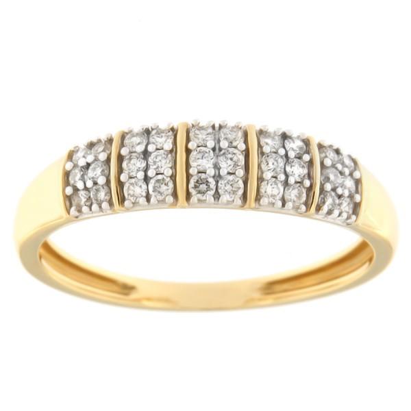 Kullast sõrmus teemantidega 0,25 ct. Kood: 16hb