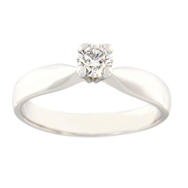 Kullast sõrmus teemantiga 0,37 ct. Kood: 36b