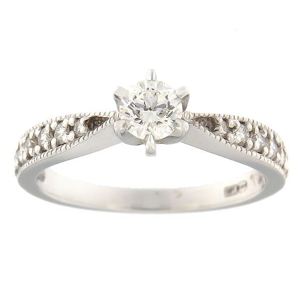 91b9813de2b Kullast sõrmus teemantidega 0,52 ct. Kood: 5bb - MATIGOLD - Mati Kullaäri