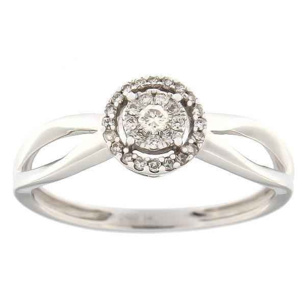 Kullast sõrmus teemantidega 0,15 ct. Kood: 5ha