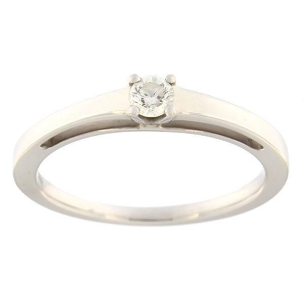 Kullast sõrmus teemantiga 0,15 ct. Kood: 60ab