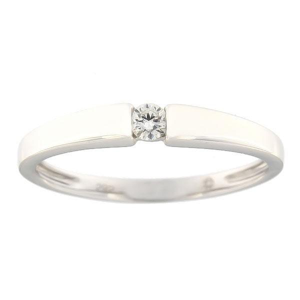 Kullast sõrmus teemantiga 0,09 ct. Kood: 73af