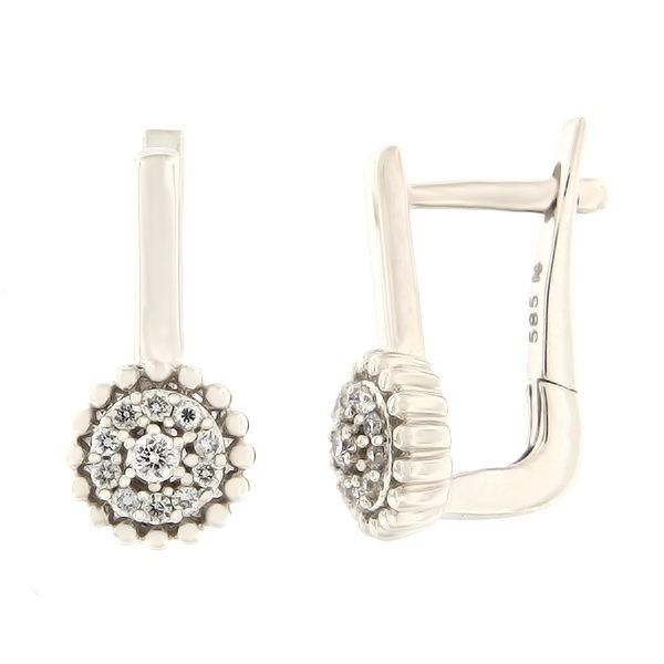 Kullast kõrvarõngad teemantidega 0,20 ct. Kood: 34hk