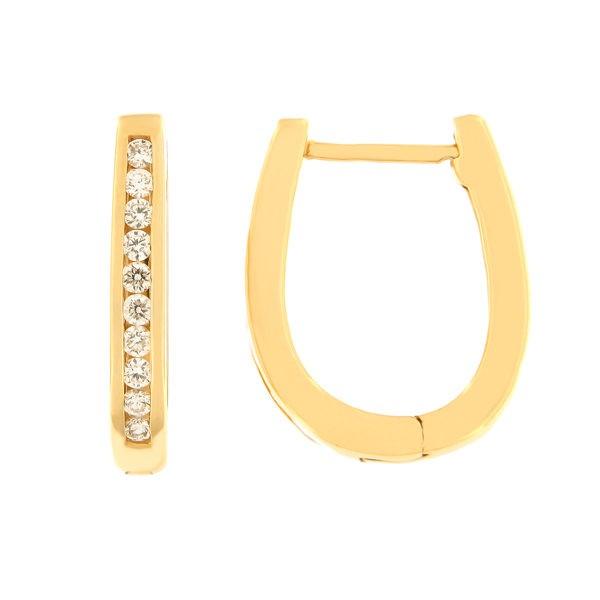 Kullast kõrvarõngad teemantidega 0,25 ct. Kood: 5af