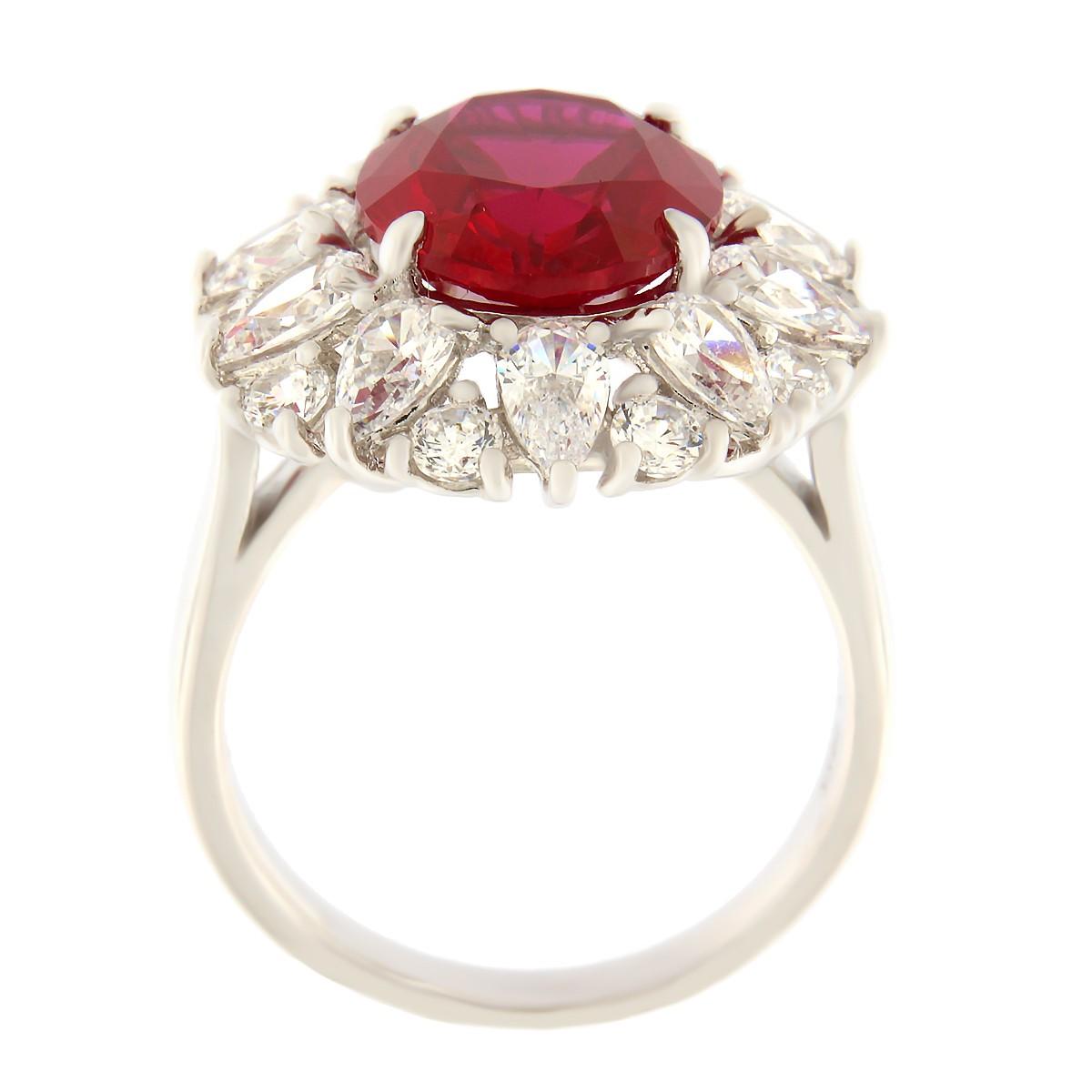Hõbedast sõrmus Gioialite kividega Kood: AN5398-RO-DR küljelt