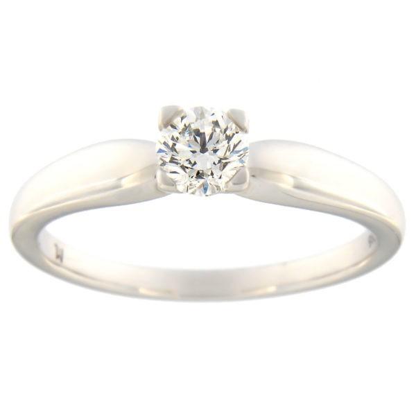 Kullast sõrmus teemantiga 0,40 ct. Kood: 105at