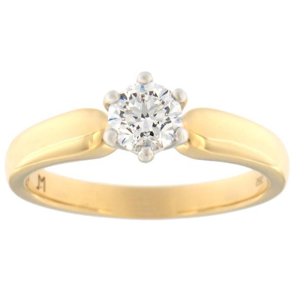 Kullast sõrmus teemantiga 0,50 ct. Kood: 110at