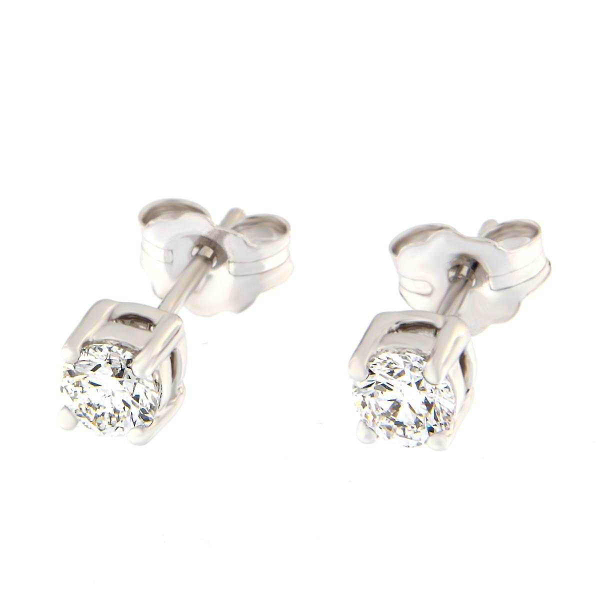 Kullast kõrvarõngad teemantiga 0,48 ct. Kood: 1at
