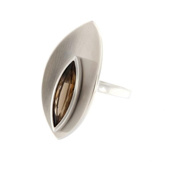 Hõbedast sõrmus suitsukvartsiga Kood: 4203213-0-RHD
