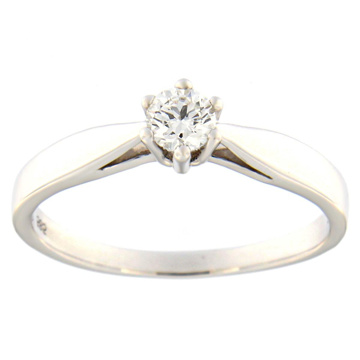 Kullast sõrmus teemantiga 0,19 ct. Kood: 48at