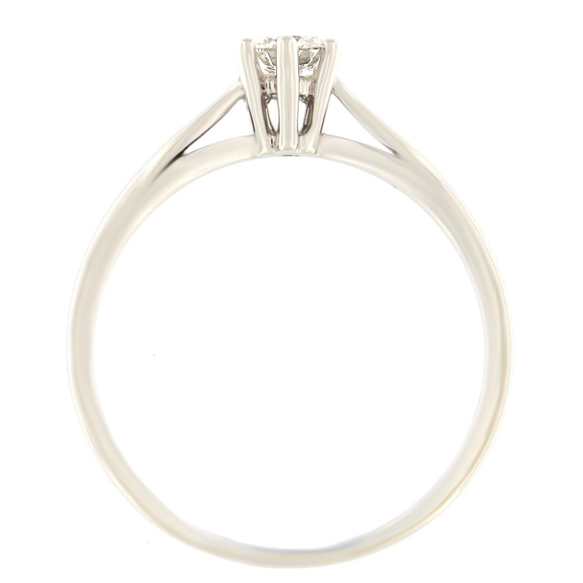 Kullast sõrmus teemantiga 0,19 ct. Kood: 48at külg