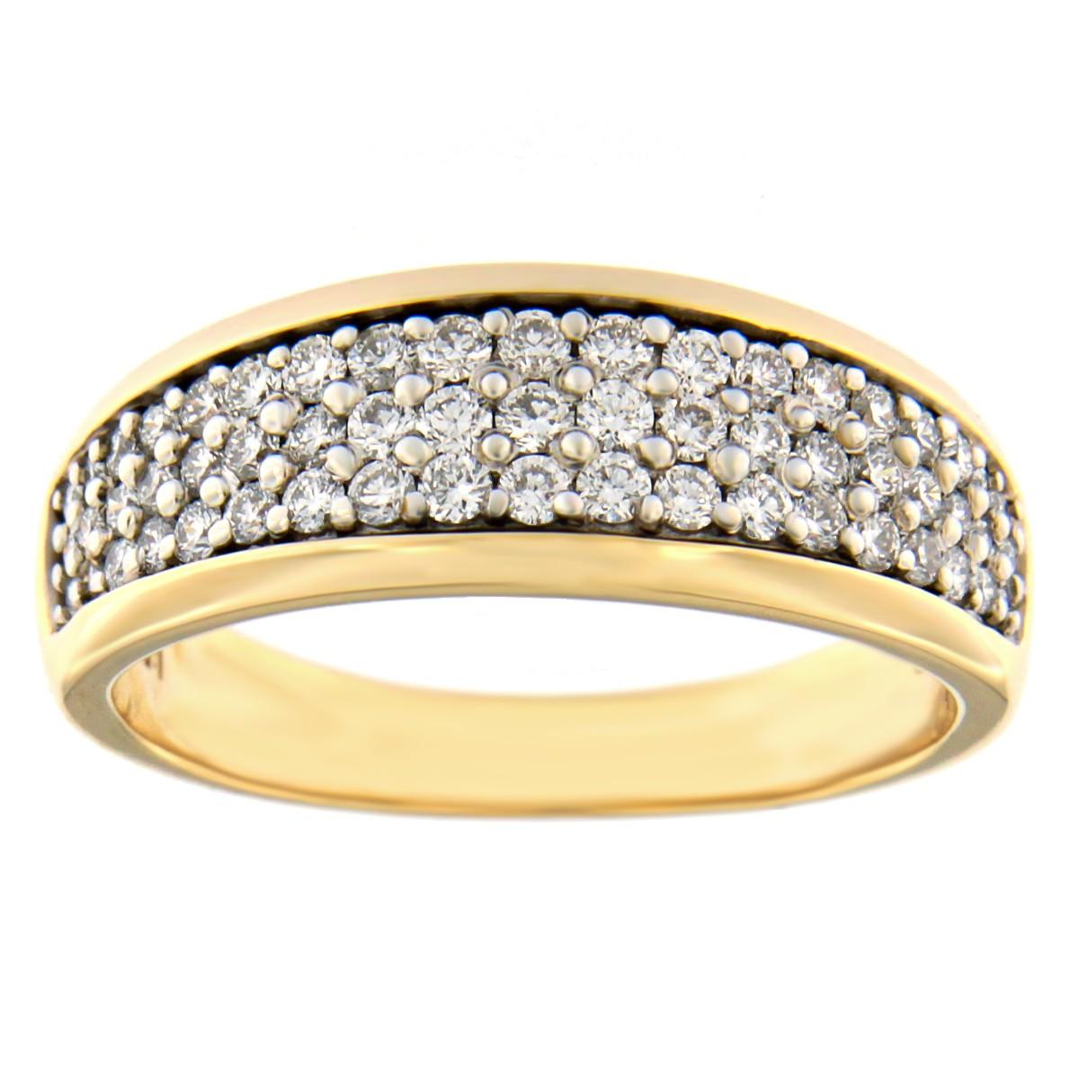 Kullast sõrmus teemantidega 0,50 ct. Kood: 53at