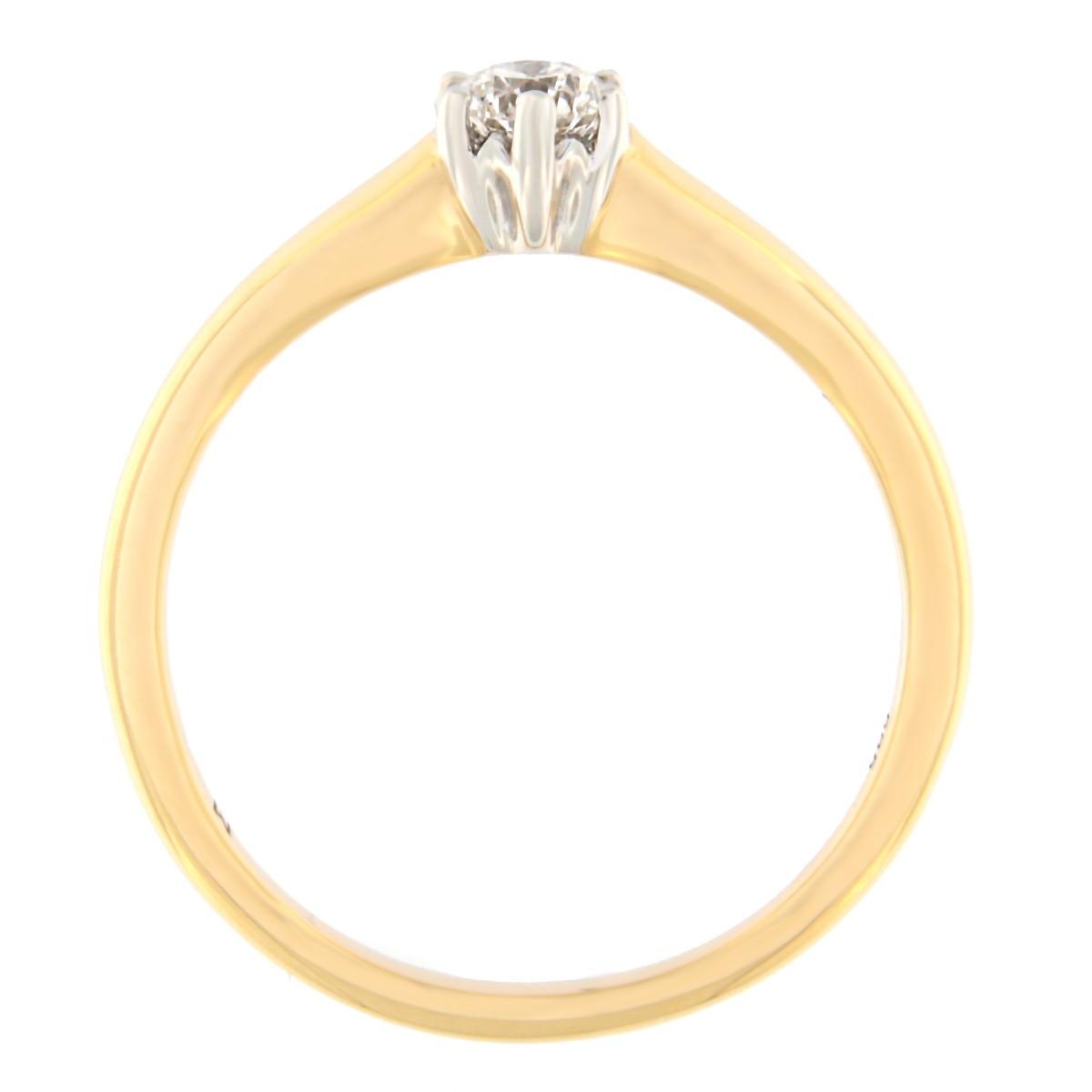 Kullast sõrmus teemantiga 0,25 ct. Kood: 56at