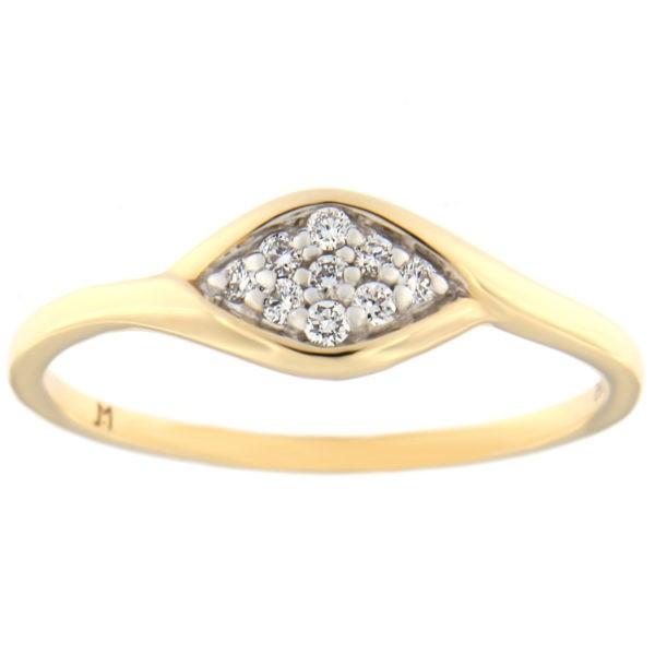 Kullast sõrmus teemantidega 0,08 ct. Kood: 62at