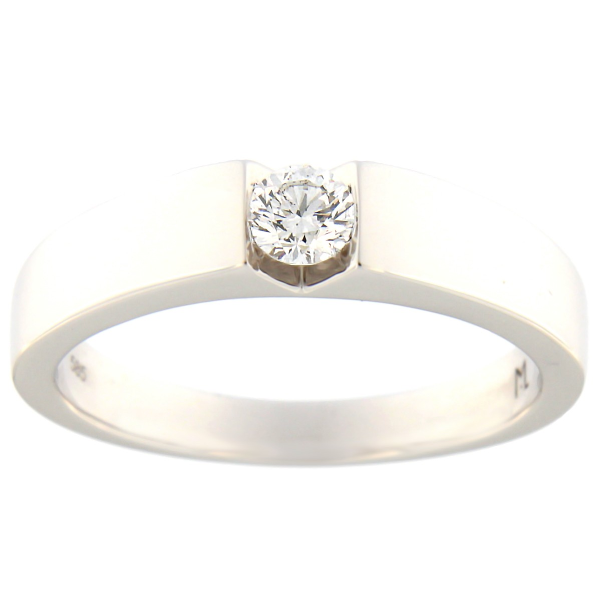 Kullast sõrmus teemantiga 0,20 ct. Kood: 64at