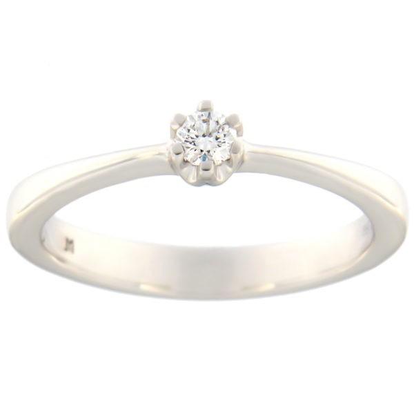 Kullast sõrmus teemantiga 0,09 ct. Kood: 66at