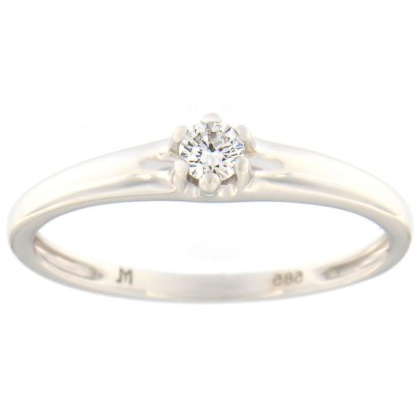 Kullast sõrmus teemantiga 0,10 ct. Kood: 69at