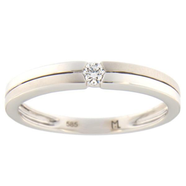 Kullast sõrmus teemantiga 0,07 ct. Kood: 72at
