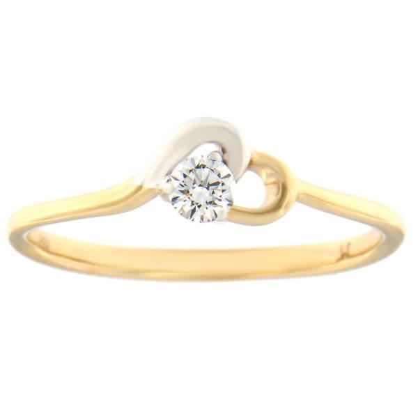 Kullast sõrmus teemantiga 0,13 ct. Kood: 73at