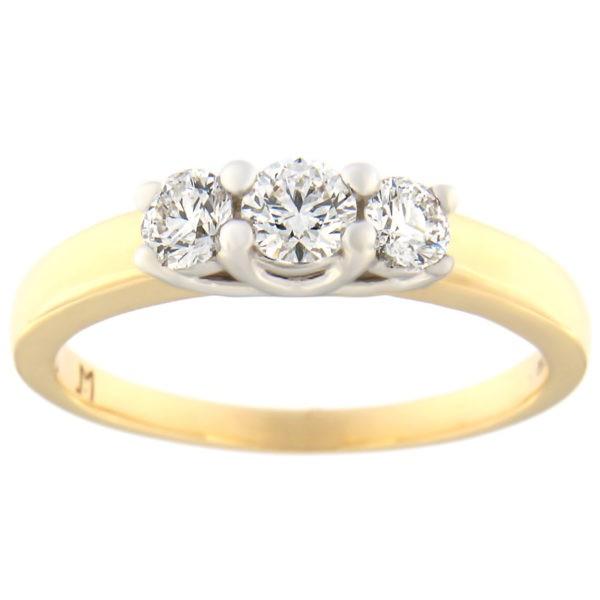 Kullast sõrmus teemantidega 0,51 ct. Kood: 79at