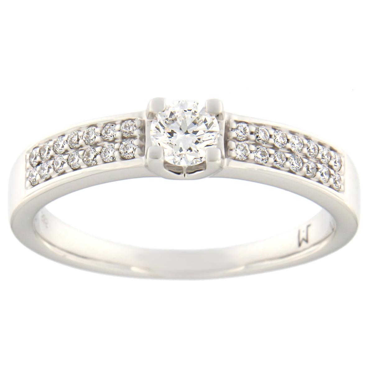 Kullast sõrmus teemantidega 0,38 ct. Kood: 81at