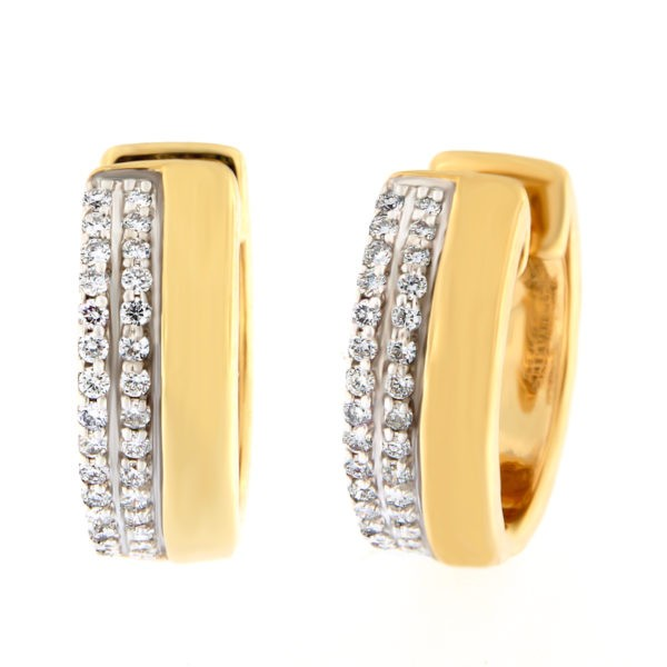 Kullast kõrvarõngad teemantidega 0,24 ct. Kood: 8at