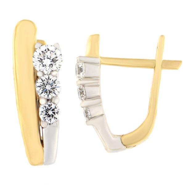 Kullast kõrvarõngad teemantidega 0,24 ct. Kood: 16at