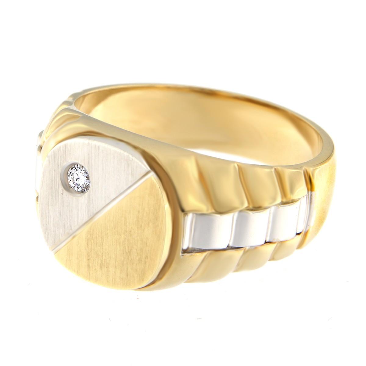 Kullast klotser teemantiga 0,05 ct. Kood: 1742b külgvaade
