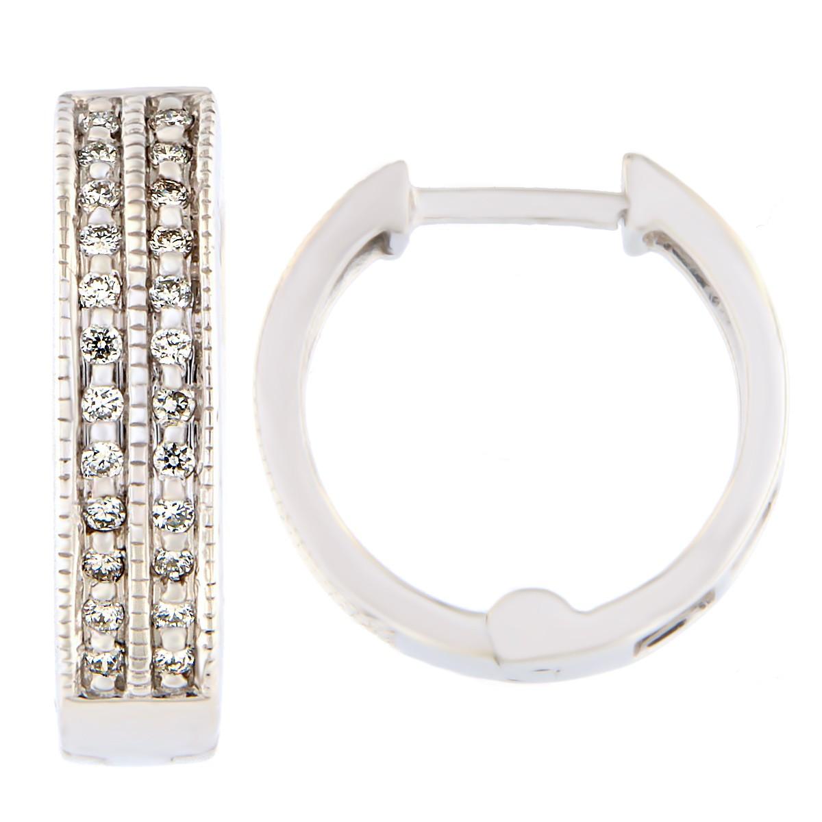 Kullast kõrvarõngad teemantidega 0,13 ct. Kood: 18at