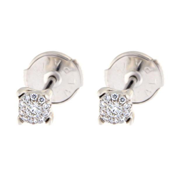 Kullast kõrvarõngad teemantidega 0,13 ct. Kood: 21at